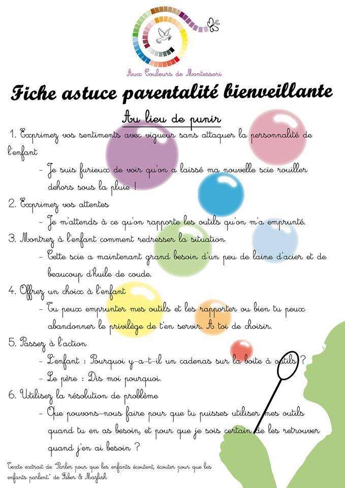Le Blog d'Eliglenn: Fiche astuce parentalité bienveillante