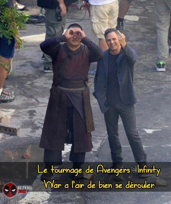 Le tournage de Avengers a l'air de bien se dérouler... - Be-troll - vidéos humour, actualité insolite