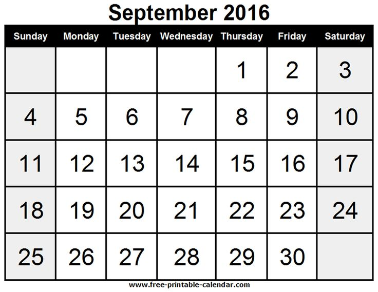 97 best September Month images on Pinterest Monthly calendars - blank calendar pdf