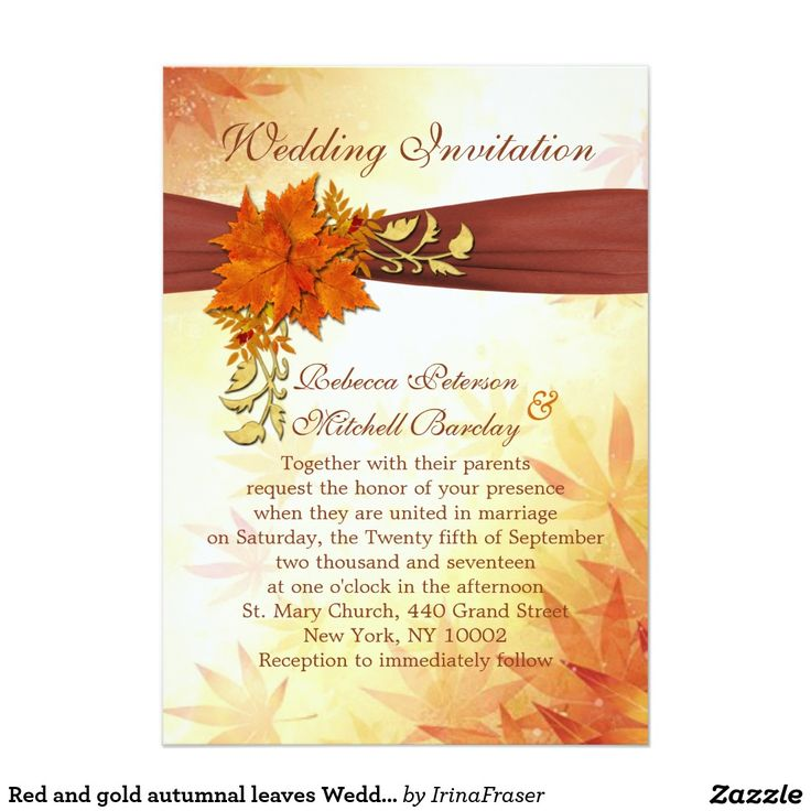 The 43 best Autumn wedding invitations images on Pinterest | Fall ...