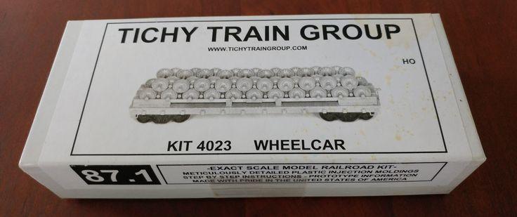 Tichy Train Group HO Kit # 4203- Wheelcar ( Flat Cat w/Wheel Load)