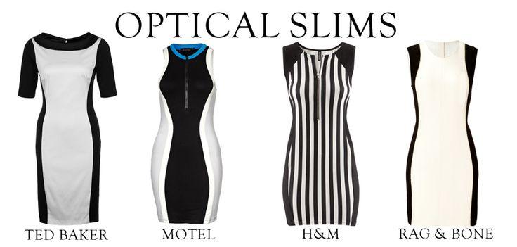 Sukienki optycznie wyszczuplające talie.  Niezawodne triki to pionowe paski, wstawki na bokach oraz nieśmiertelna czerń i biel. Która sukienka najbardziej się Wam podoba?   /Dresses optically slimming waists.  Reliable tricks that vertical stripes and immortal black and white.  Which dress you like the most?   http://glamstorm.com/en/clothes/details/id/5979 http://glamstorm.com/en/clothes/details/id/4569 http://glamstorm.com/en/clothes/details/id/3718