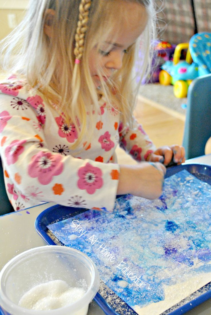 Epson salt snow crystals - Stay At Home Educator