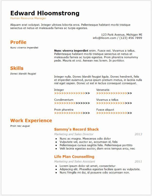 Resume Template Word Resume Template Free Resume Templates Downloadable Resum Downloadable Resume Template Resume Template Word Online Resume Template