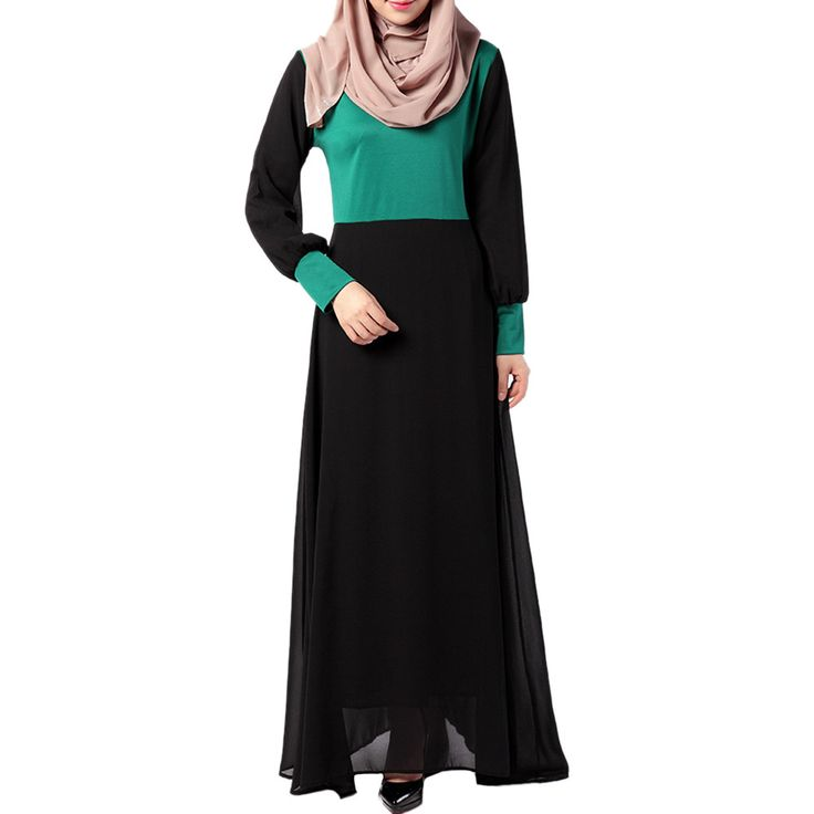 Middle East Muslim Dress National Garments green M