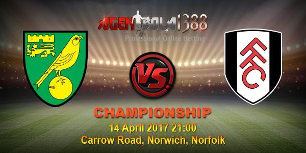 Prediksi Norwich City Vs Fulham, Prediksi Skor Norwich City Vs Fulham, Bursa Pasaran Bola Norwich City Vs Fulham. Partai seru mempertemukan antara Norwich City Vs Fulham pada ajang CHAMPIONSHIP pekan ini akan digelar Jumat, 14 April 2017 • Pukul 21:00 WIB langsung dari Carrow Road, Norwich, Norfolk.