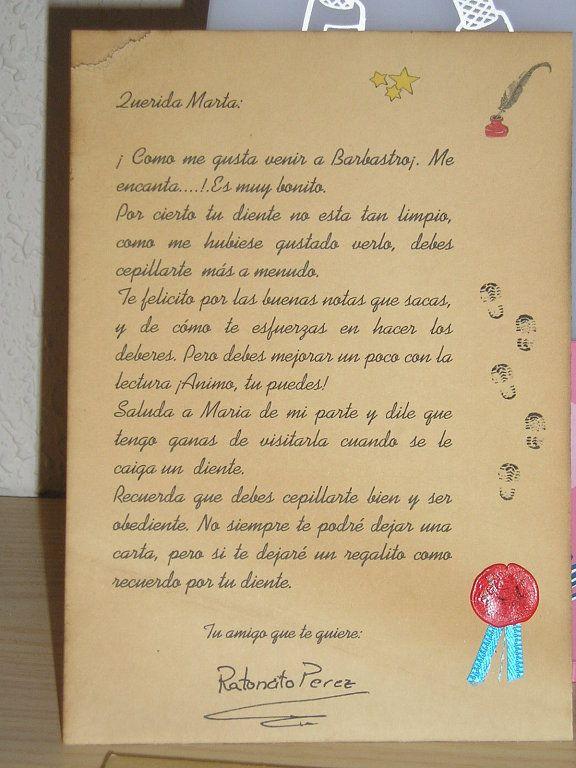Carta del Ratoncito Pérez - Imagui