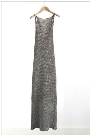 Grey knit maxi: