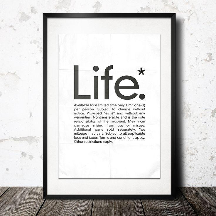 life poster från Konstgaraget hos ConfidentLiving se Idéer för hemmet Pinterest För hemmet