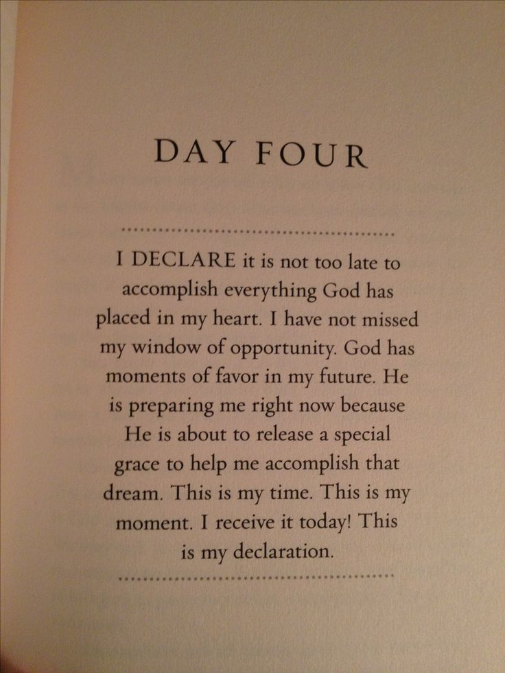 From Joel osteen I Declare ....with God all things are possible.