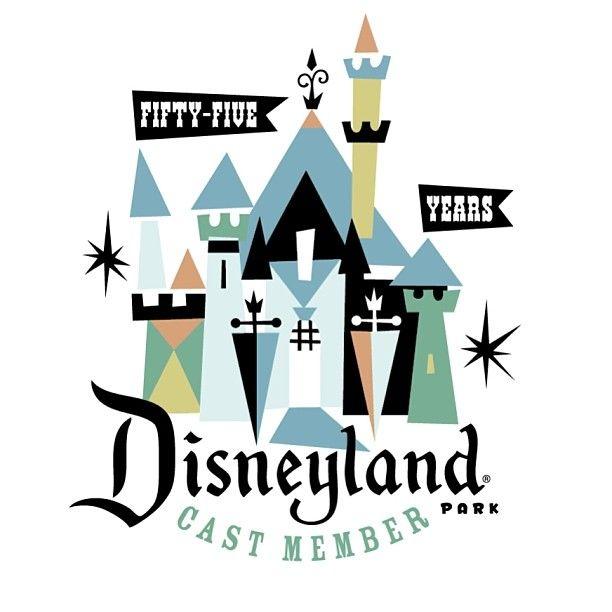Logo for cast members commemorating 55th anniversary of Disneyland. #disneyland…