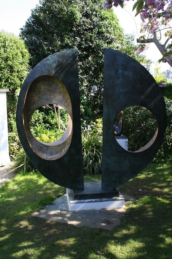 Barbara Hepworth Two Forms (Divided Circle), Bronze, 1969