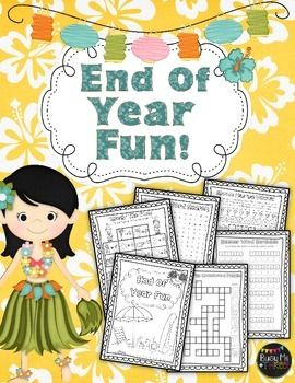 """This is a great packet of fun for the end of the year!  I use this as an """"End of the Year"""" gift for the kiddos on the last day of school.  **NEWLY UPDATED 4/4/15**This is a 13 page black-line packet that includes:*End of Year Fun Cover/Color Page*Summer Word Scramble*Summer Starfish Path Search (find the path that equals 10)*Summer Maze*Summer Word Search*Summer Words Make (How many words can you make from """"Summer Days"""")*Summer Picture Cross Word Puzzle*A Trip to the Beach (A MadLib)*Summer…"""