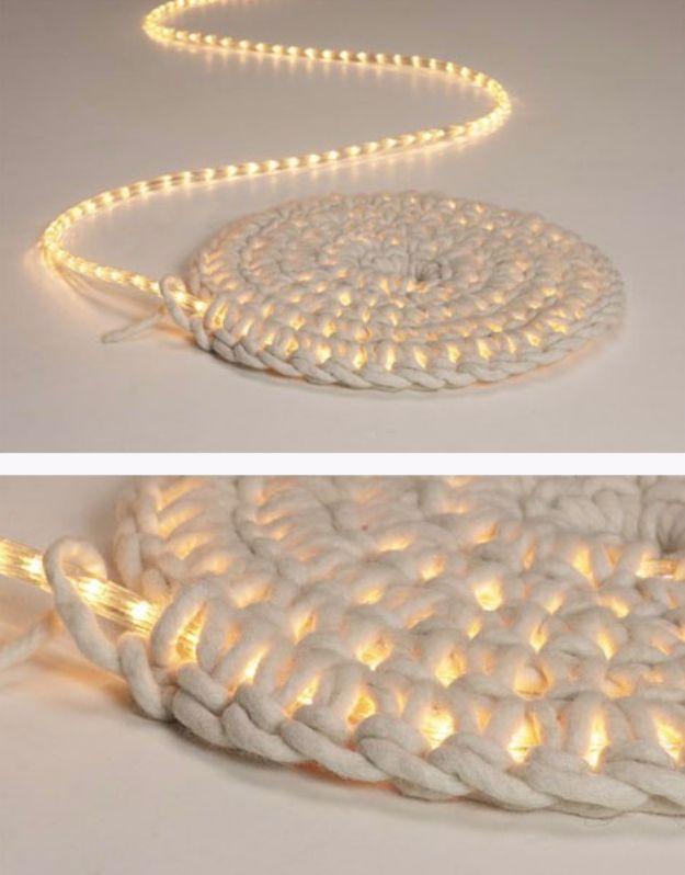 String Light DIY ideas for Cool Home Decor | DIY LED Carpet Light are Fun for Teens Room, Dorm, Apartment or Home | http://diyprojectsforteens.com/diy-string-light-ideas/