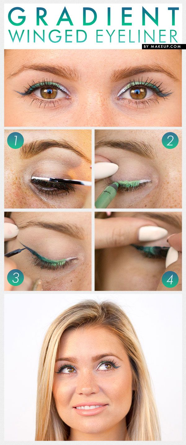 Gradient Winged Eyeliner tutorial