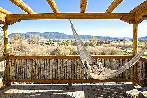 Romantic hammock in the desert. Vacation Rental - Artisan Adobes, Taos, New Mexico