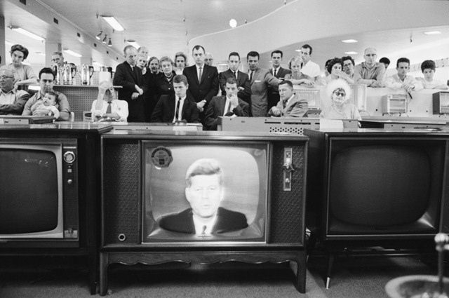 October 22, 1962,  President John F. Kennedy tells the world that we are on the brink of nuclear war.