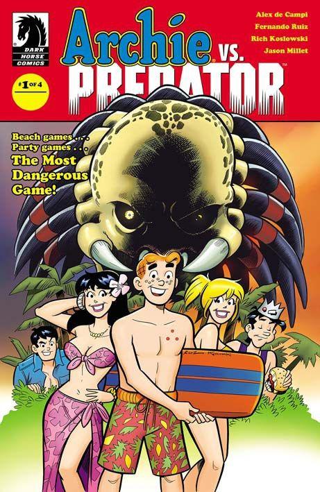 """Archie vs Predator"" (2015) Cover di Fernando Ruiz #DarkHorseComics #Predator #FernandoRuiz"