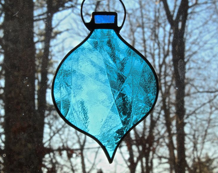 Stained Glass Ornaments by ForgingAheadMetal on Etsy