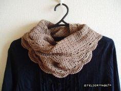 【編み図】シルクのロングストール – かぎ針編みの無料編み図 Atelier *mati*