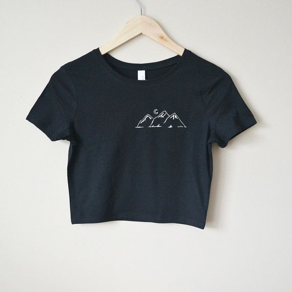 Mountains Crop Top