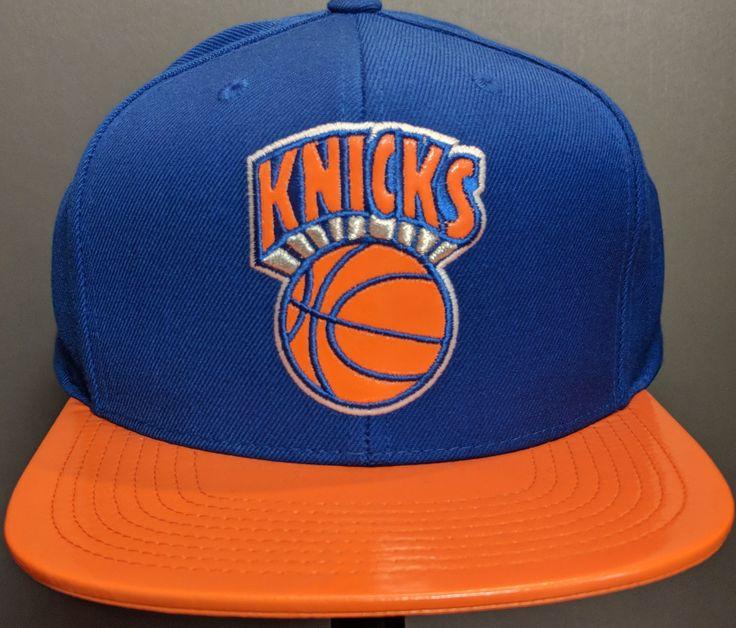 New York Knicks Mitchell & Ness NBA Team Patent 2 Tone Snapback Cap