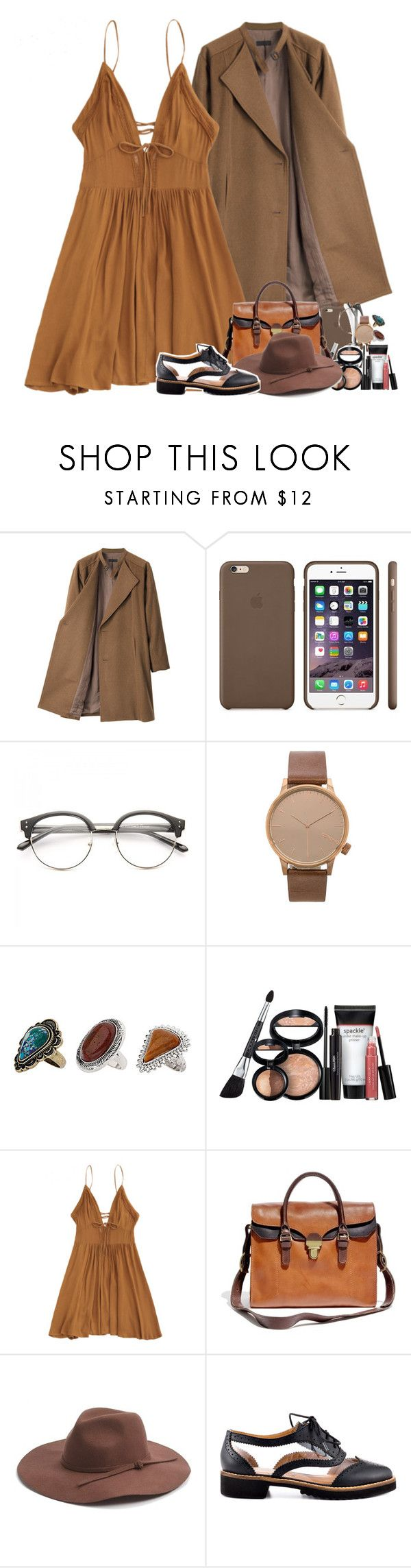 """knocking on your heart."" by sticthen on Polyvore featuring G.V.G.V., Black Apple, Komono, Topshop, Laura Geller, Madewell, Phase 3, Kelsi Dagger Brooklyn, brown and fanfiction"