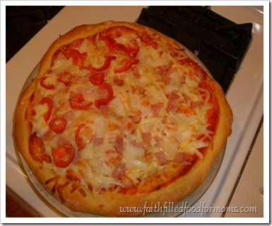 Homemade Pizza Recipe. She also has a 1/2 whole wheat option.