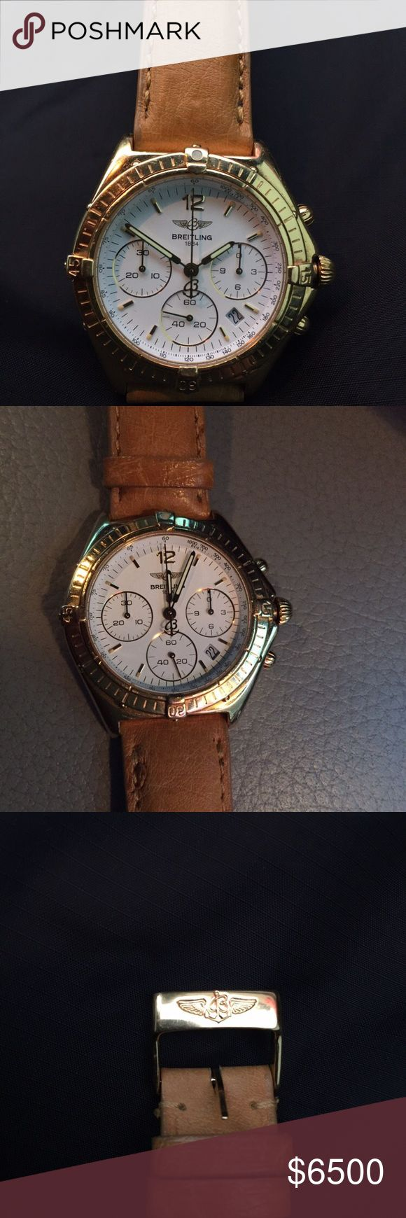 Classic Gold Breitling watch Gold Breitling watch, excellent used condition Breitling Accessories Watches
