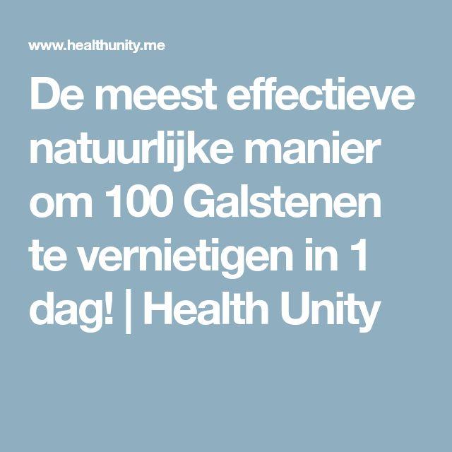 De meest effectieve natuurlijke manier om 100 Galstenen te vernietigen in 1 dag! | Health Unity