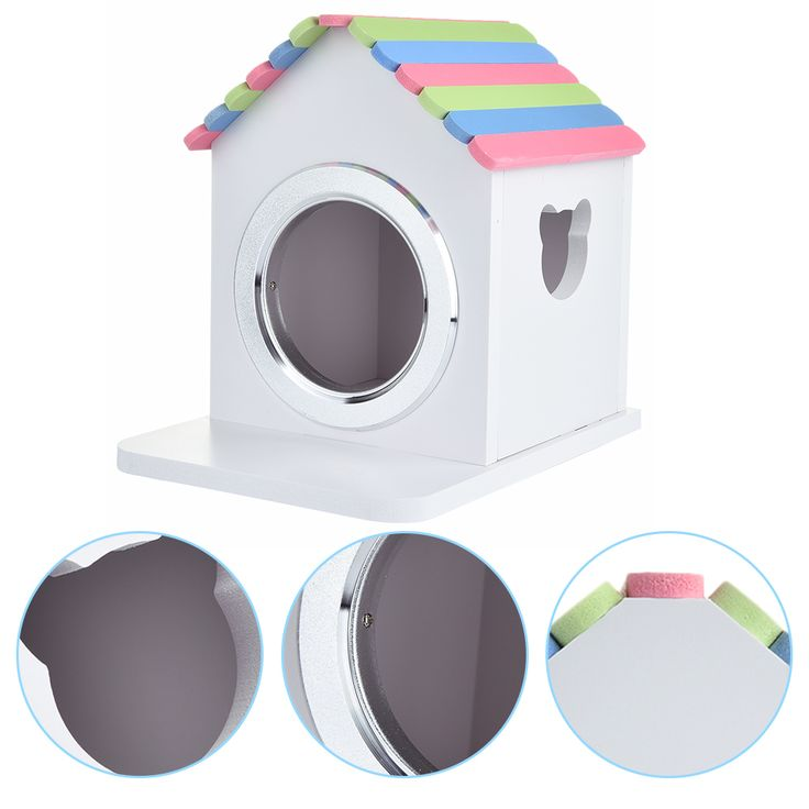 Cages for Hamsters / Guinea Pigs / Chinchilla and Other Small Mascota Animal  Colorful Wooden Hamster House  #Affiliate