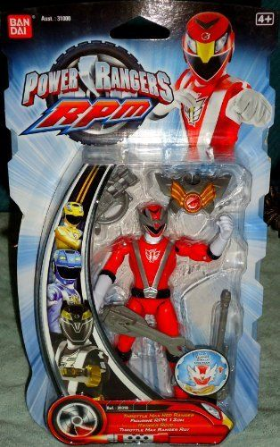 "Power Rangers RPM Throttle Max Red Ranger Action Figure by Bandai. $13.99. This item is approx. 5"" tall.. Power Rangers RPM Throttle Max Red Ranger Action Figure. Power Rangers RPM Throttle Max Red Ranger Action Figure"