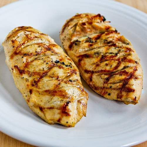 How to Make Juicy Grilled Chicken Breasts That Are Perfect Every Time by kalynskitchen #Chicken_Breasts #kalynskitchen