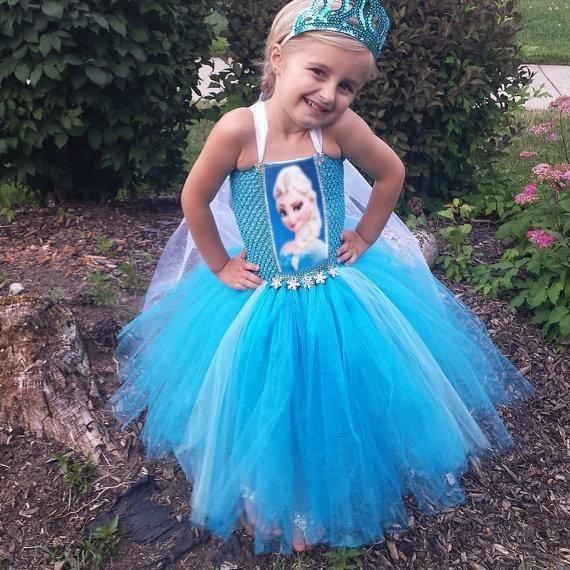 New Frozen Elsa And Anna Princess Harness Dress Children Baby Girl Party Princess Tutu Lace Tutu Dress C001