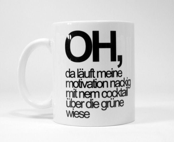 Tasse mit Druck Motivation // mug with print motivation by heyhey via DaWanda.com