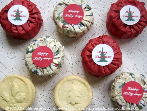 DIY cookie stamps and a simple packaging method - could easily customize this for multiple holidays.