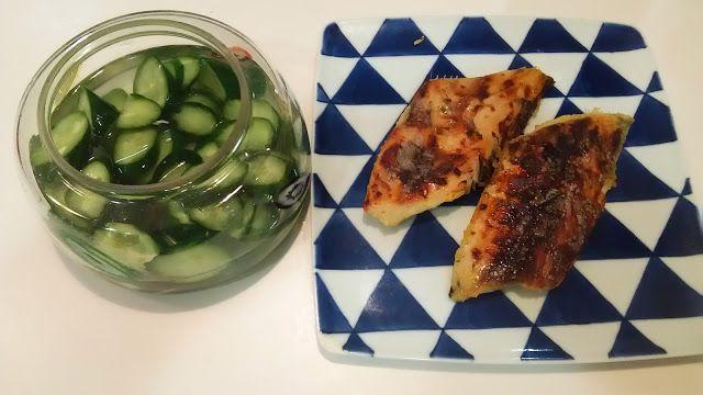 サワラの西京漬とキューリの浅漬け。オオゼキで買ってきた。  Spanish mackerel soaked in Nishikyo and the fresh radish preserved with salt and malt of the cucumber. I bought it in ozekis. http://www.kandamori.net/2017/02/blog-post_20.html #朝食 #夕食 #昼食 #ランチ #グルメ #ディナー #食事 #料理 #食料 #食べ物 #ご飯 #Breakfast #dinner #lunch #gourmet #meal #Dish #food #rice #cook #cooking