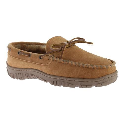 Men's Clarks Outside Seam Moccasin Slipper Leather