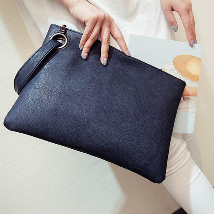 VIDA Leather Statement Clutch - SIMPLY FRENCH BLUE VI by VIDA ofBQ36JTp