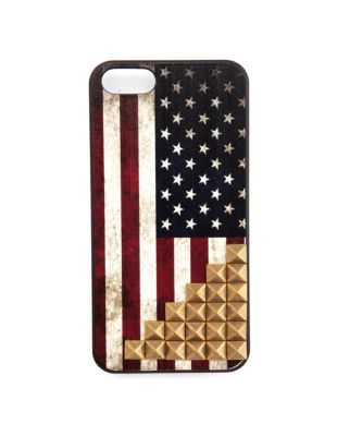 studded american flag phone case
