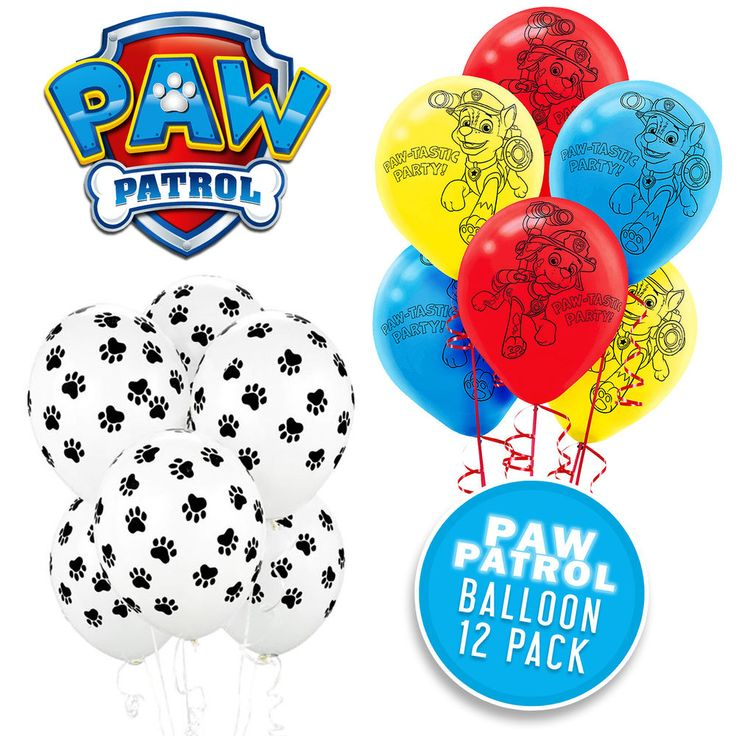 PAW PATROL BIRTHDAY PARTY SUPPLIES DECORATIONS PAW PRINT PAW PATROL BALLOONS
