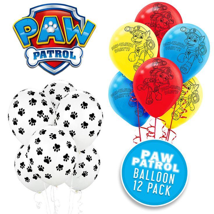 PAW PATROL BIRTHDAY PARTY SUPPLIES DECORATIONS PAW PRINT PAW PATROL BALLOONS