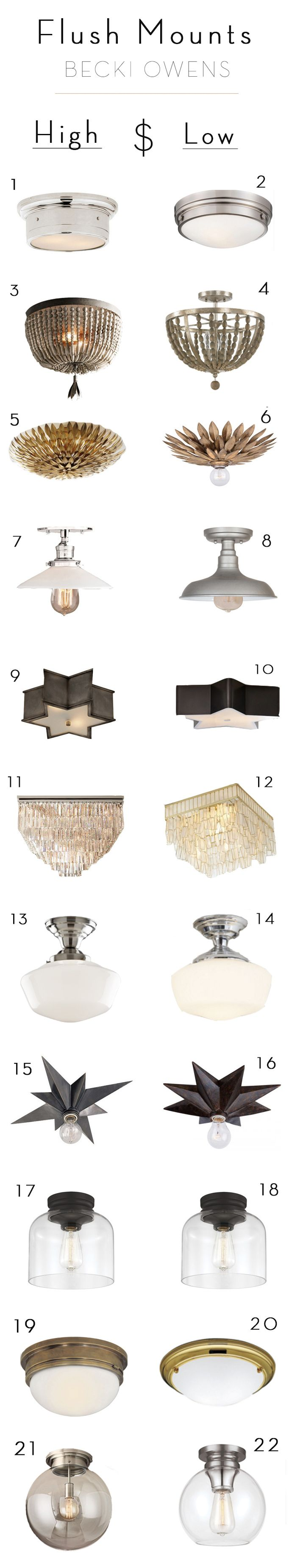 I really believe good lighting is key to a beautiful design, including flush mounts. Sometimes flush mount lighting can get a bad rap, but now days you can find flush mounts that make a space. Below is some amazing inspiration with stunning flush mount lighting.