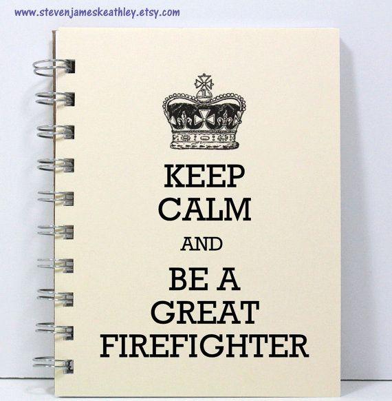 Firefighter Journal Notebook Diary Sketch by stevenjameskeathley, $8.00