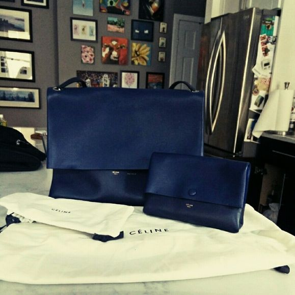 Mint condition celine all soft tote | Dark Navy Blue, Celine and ...