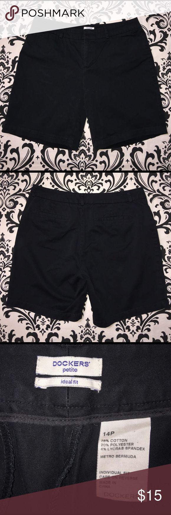 Women's Black Dockers petite shorts size 14P Women's Black Dockers petite ideal fit shorts size 14P. Excellent condition. Bundle and save! Dockers Shorts Bermudas