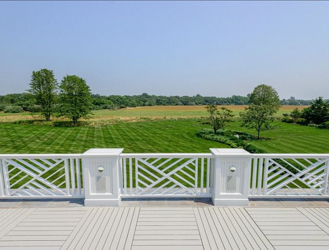 Classic Hamptons Beach House - chippendale railing