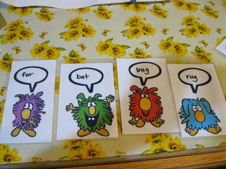 Rhyming Dust Bunnies flash cards