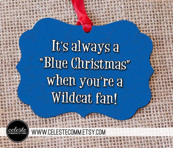 Kentucky Wildcats Blue Christmas Metal Ornament - two sided, University of Kentucky inspired, Big Blue Nation