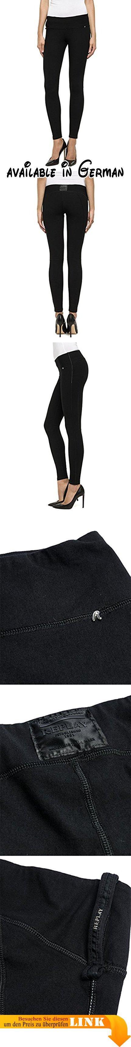 Replay Damen Jeggings Jeanshose Hyperskin, Gr. 38 (Herstellergröße: 3), Schwarz (Dark Black 98). Diese Hose von Replay sollte in keinem gut sortierten Kleiderschrank fehlen. Die hautenge Jeggings passt sich dank der Hyperskin Technologie und ihrer robusten Qualität perfekt an die Haut an. Mit engem Print-Shirt oder Longbluse, High Heels und interessanten Accessoires gelingen sexy Outfits wie von selbst. Die Hyperskin Jeggings von Replay ist ein Must-Have für jede moderne